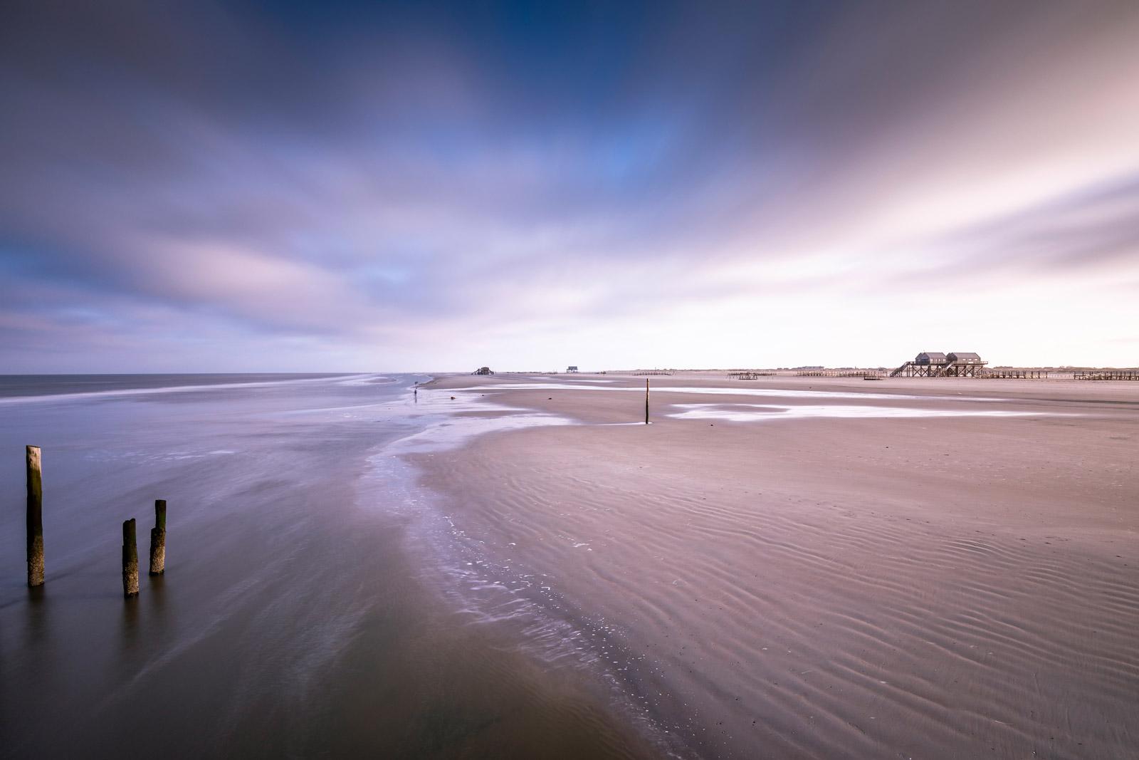 Strand von St Peter Ording an der Nordsee