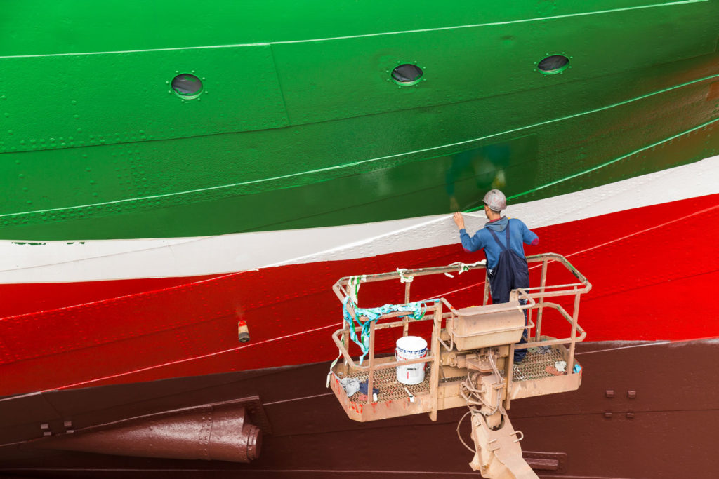 Rickmer Rickmers in der Werft in Hamburg