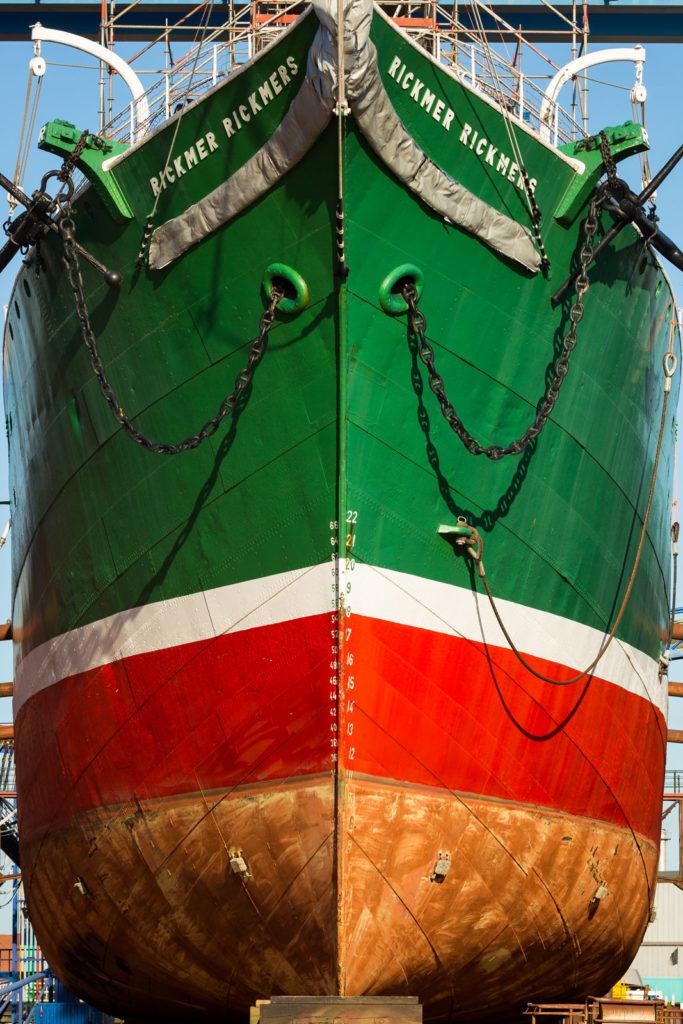 Rickmer Rickmers in der Werft in Hamburg