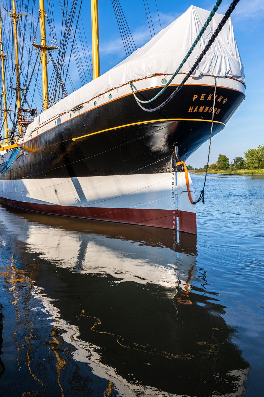 Viermastbark PEKING Schiff in der Werft