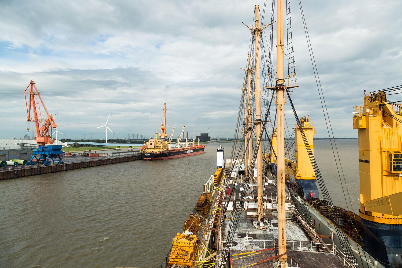 Historisches Schiff Peking bei der Ankunft in Deutschland