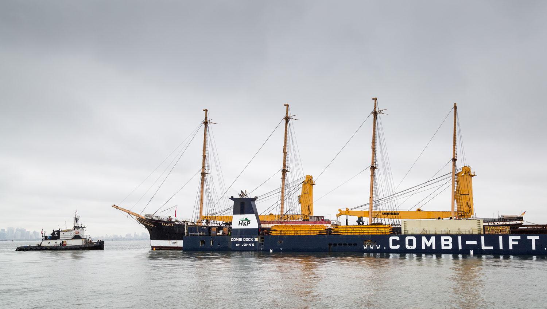 Das historische Schiff PEKING im Dosckschiff in New York City