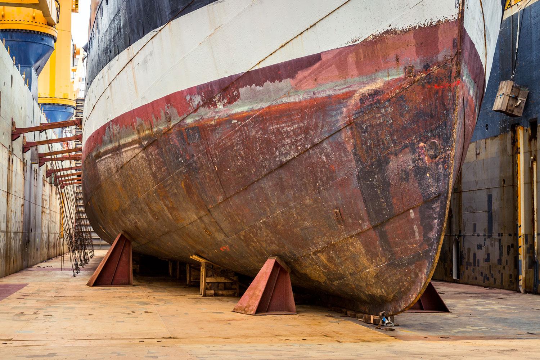 Historisches Schiff Peking auf dem Weg nach Deutschland