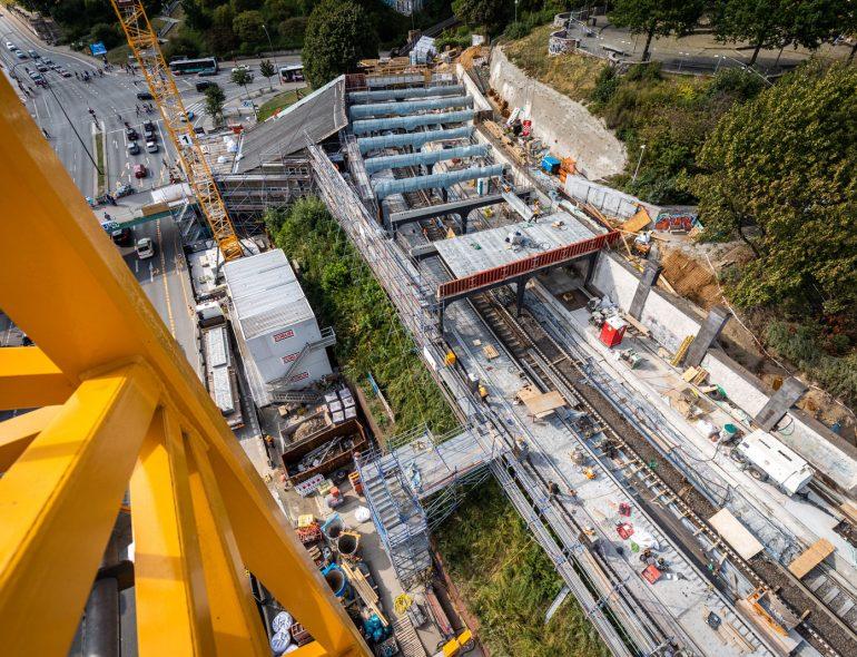 Sanierung der Haltestelle Landungsbrücken in Hamburg